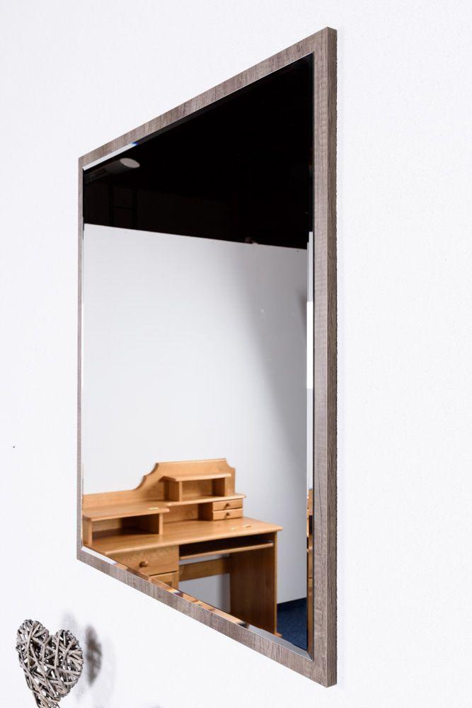 Spiegel Lepa 23, Farbe: Eiche Dunkelbraun - 87 x 79 x 2 cm (H x B x T)
