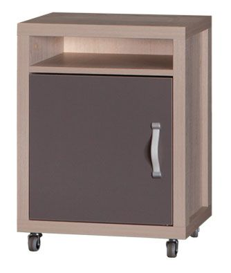 Jugendzimmer - Rollcontainer Tobias 10, Farbe: Braun / Grau - 60 x 40 x 40 cm (H x B x T)