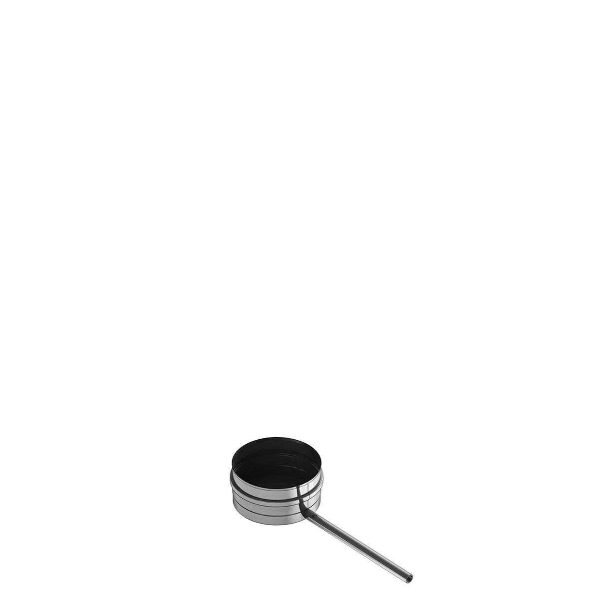 Einwandige Kondensatschale mit Ablauf - Durchmesser: 115 mm