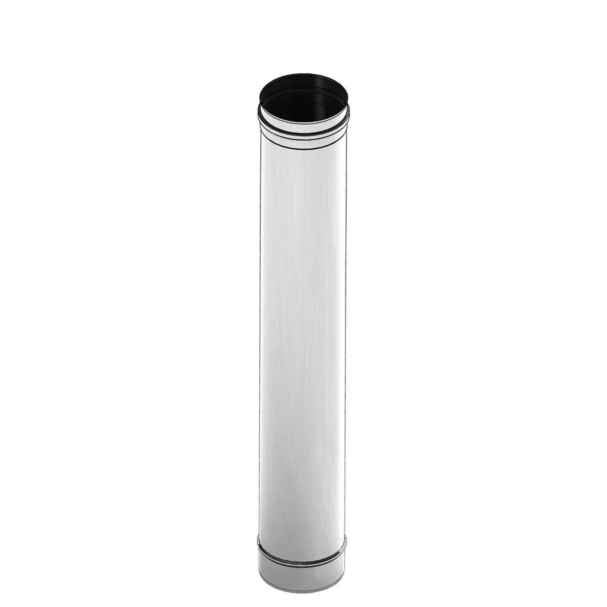 Einwandiges feuchtigkeits- unempfindliches Längenelement 1000 mm - Durchmesser: 150 mm