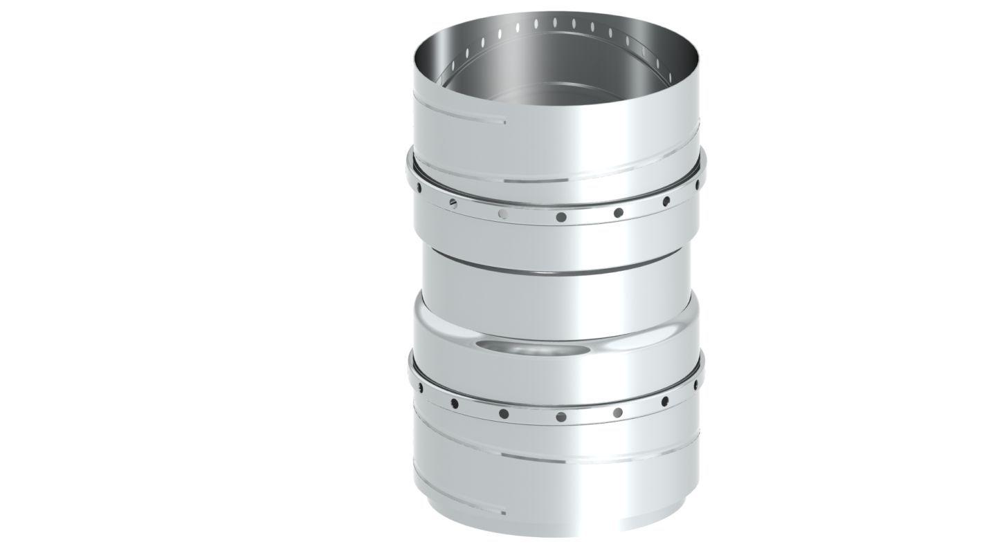 Einwandiger FLEX Übergang flexibel auf flexibel  - Durchmesser: 180 mm