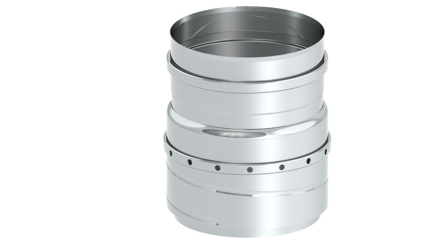 Einwandiger FLEX Übergang flexibel auf starr - Durchmesser: 150 mm