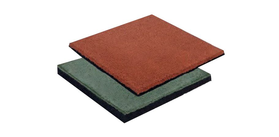 Fallschutzmatte, Abmessung: 50 x 50 cm (B x T), Stärke: 4,5 cm - Farbe: rot