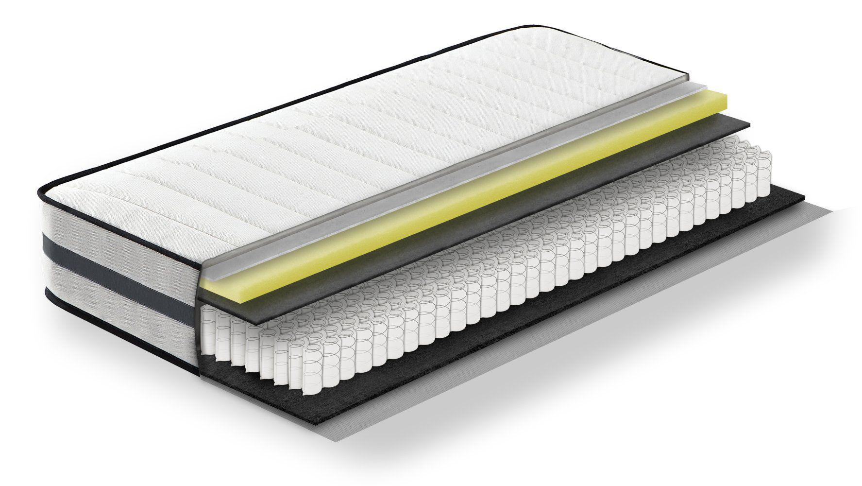 Steiner Premium Matratze Fantasy mit Taschenfederkern - Größe: 120 x 200 cm, Härtegrad H2-H3, Höhe: 22,5 cm