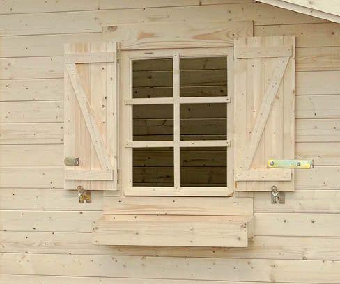 Blumenkasten und Fensterläden Set für Einzelfenster