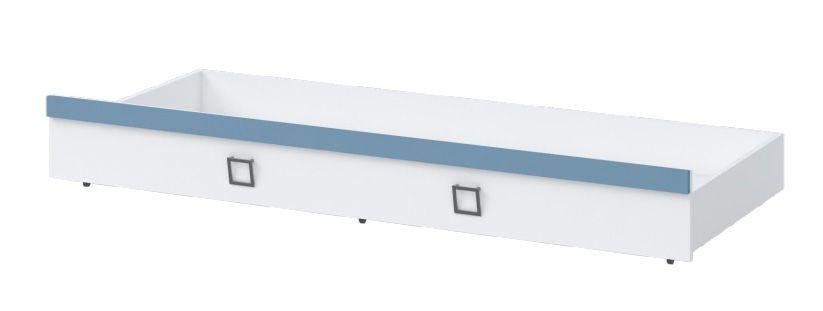 Bettkasten für Bett Benjamin, Farbe: Weiß / Blau - Liegefläche: 80 x 190 cm (B x L)