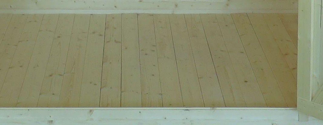 Fußboden für das Flachdach-Gartenhaus Sonneninsel