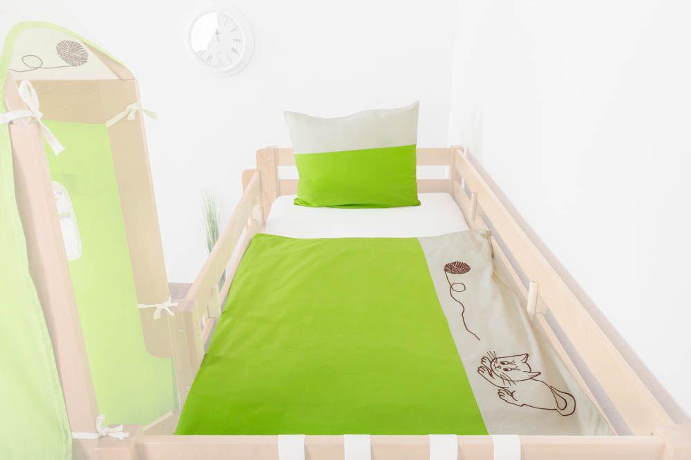 Motiv - Kinder - Bettwäsche 2-teilig - Farbe: Katze