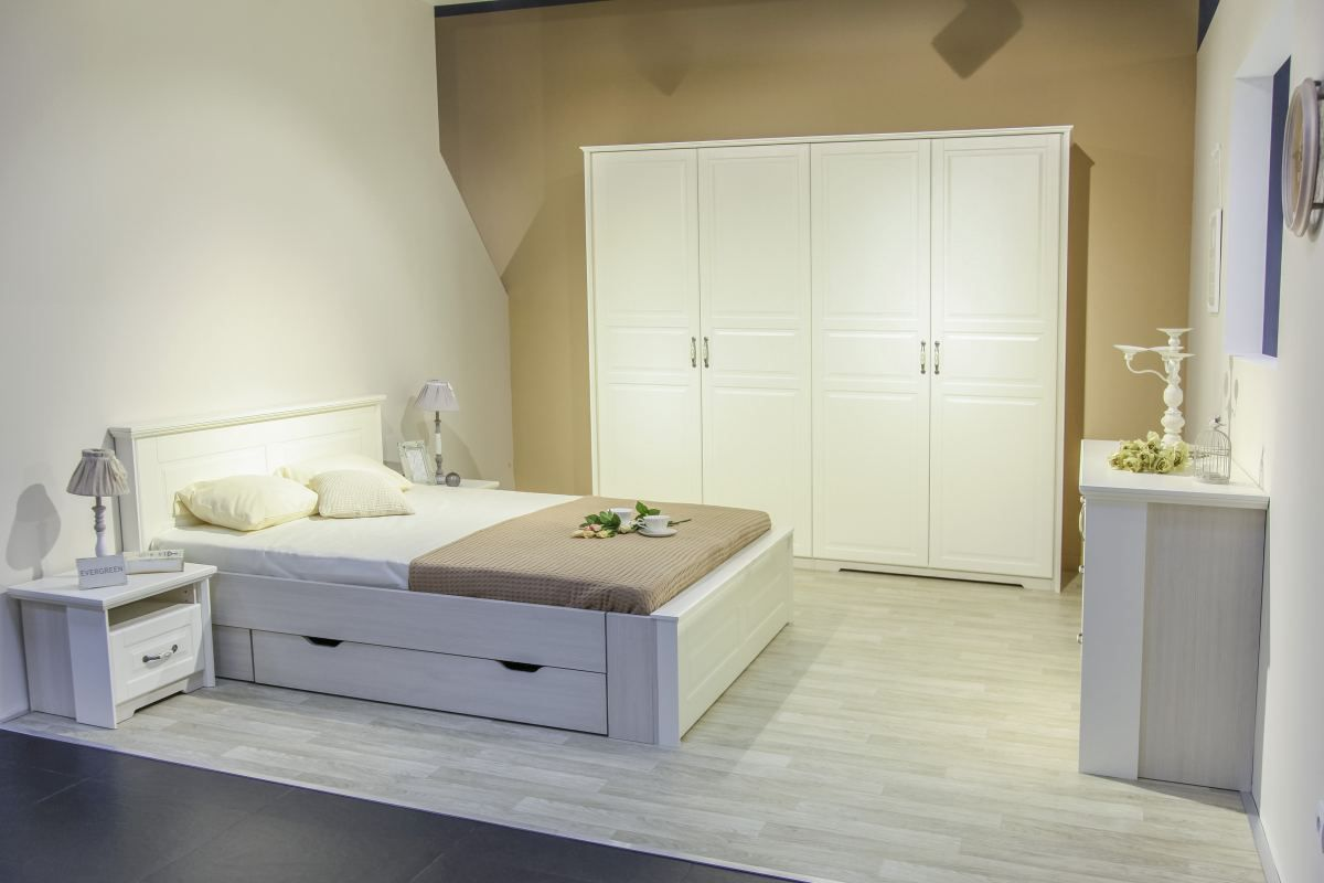 Schlafzimmer Komplett - Set A Falefa, 6-teilig, Farbe: Elfenbein