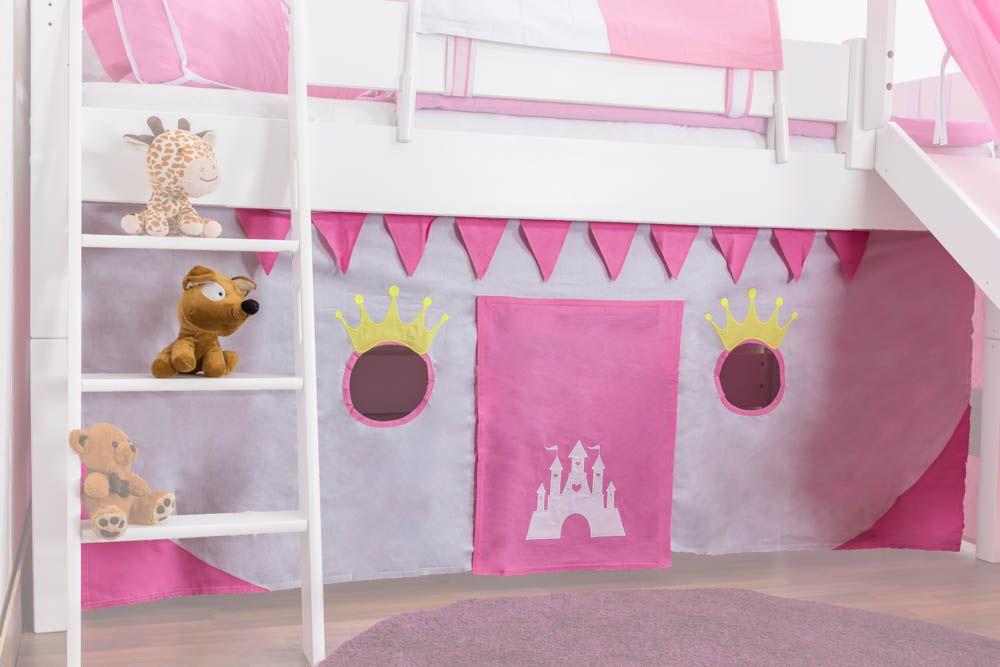Motiv - Vorhänge Stoff-Set - Farbe: Prinzessin