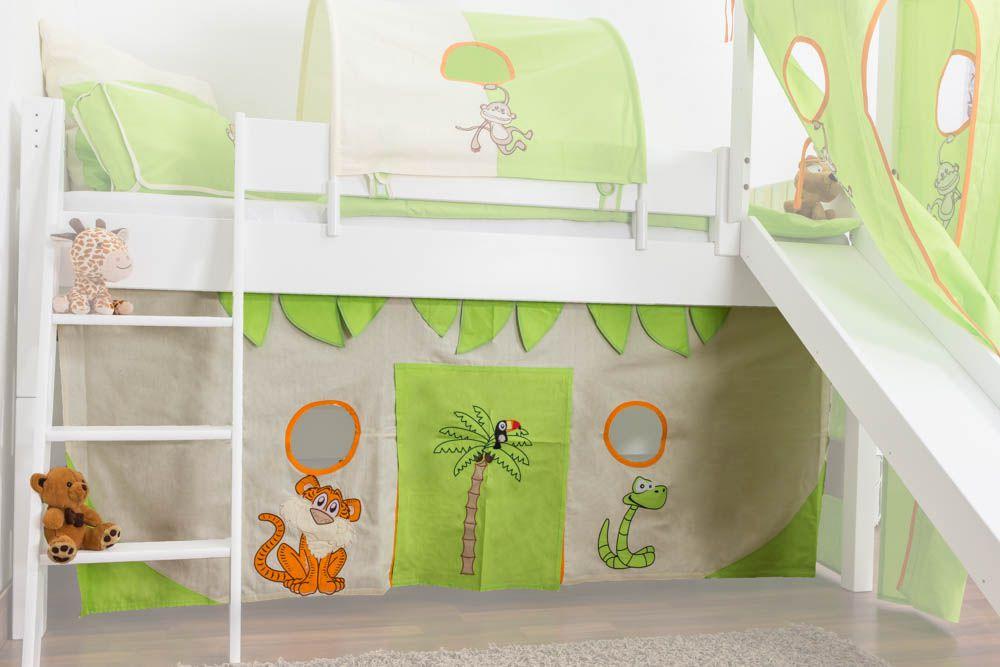 Motiv - Vorhänge Stoff-Set - Farbe: Dschungel