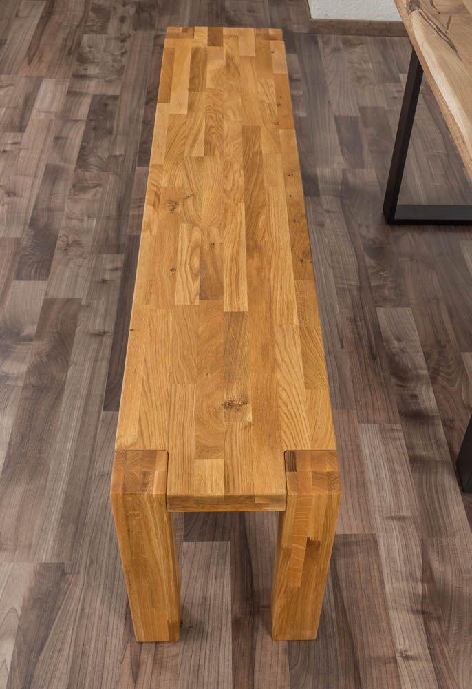 Bank Wooden Nature 133 Eiche massiv - 160 x 33 cm (L x B)