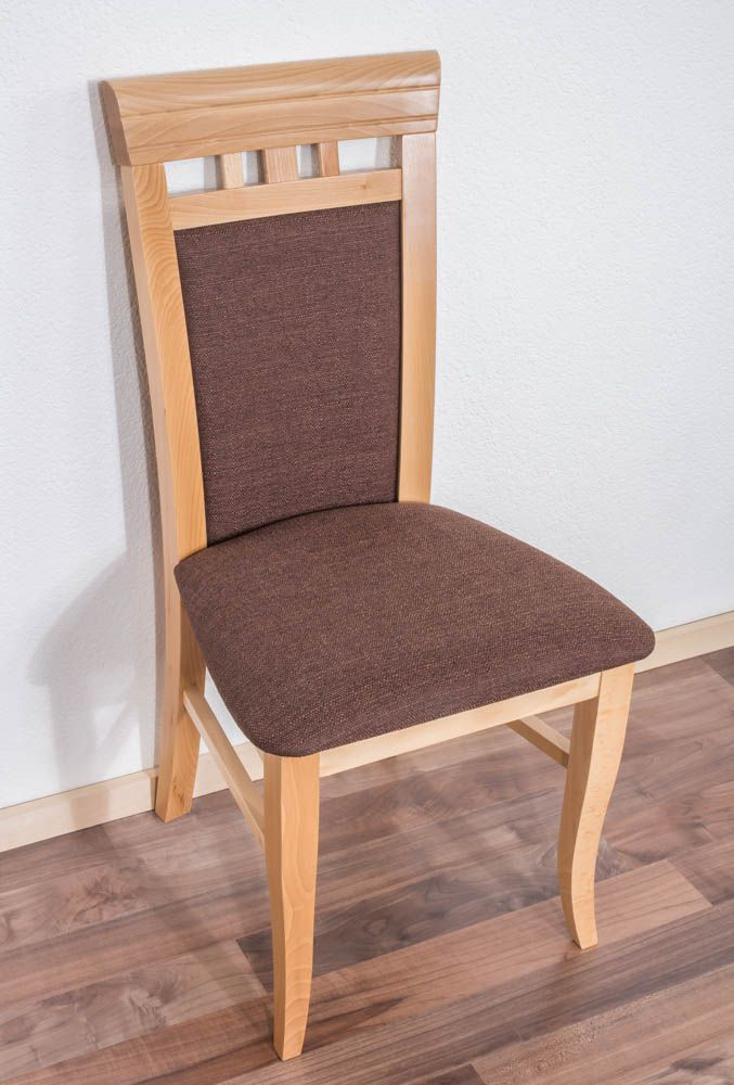 Stuhl Buche massiv Vollholz natur Junco 249 - Abmessung 98 x 48 x 50 cm