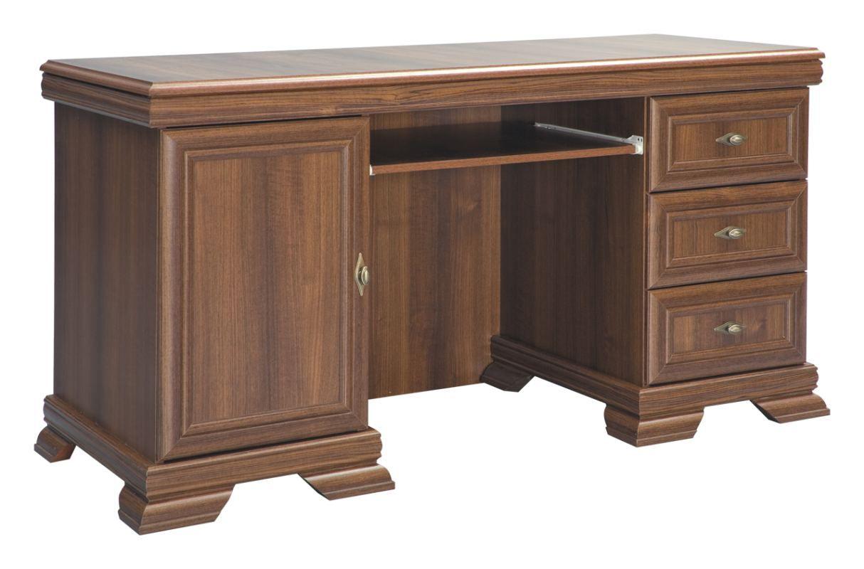 Schreibtisch Sentis 06, Farbe: Dunkelbraun - 75 x 149 x 61 cm (H x B x T)