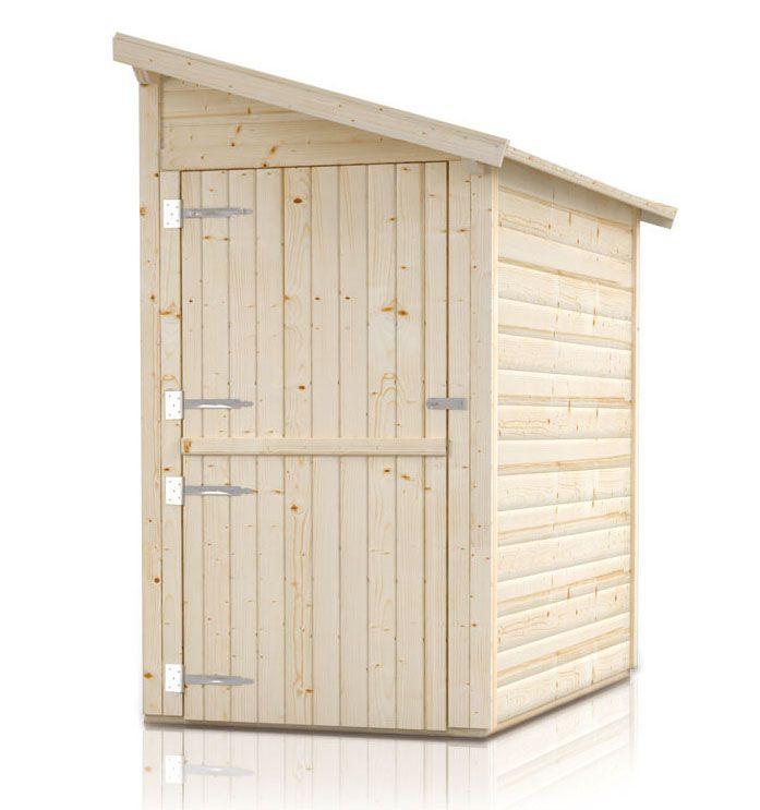 """Gartenschrank Anbauschrank """"Ordnung"""" - Ausführung: Ordnung 2, Außenmaß mit Dach: 230 x 124 cm, Außenmaß ohne Dach: 200 x 120 cm, Innenmaß: 192 x 116 cm"""