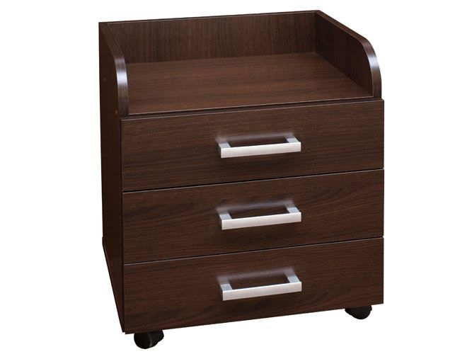 Rollcontainer Rosario 03, Farbe: Wenge - 58 x 50 x 41 cm (H x B x T)