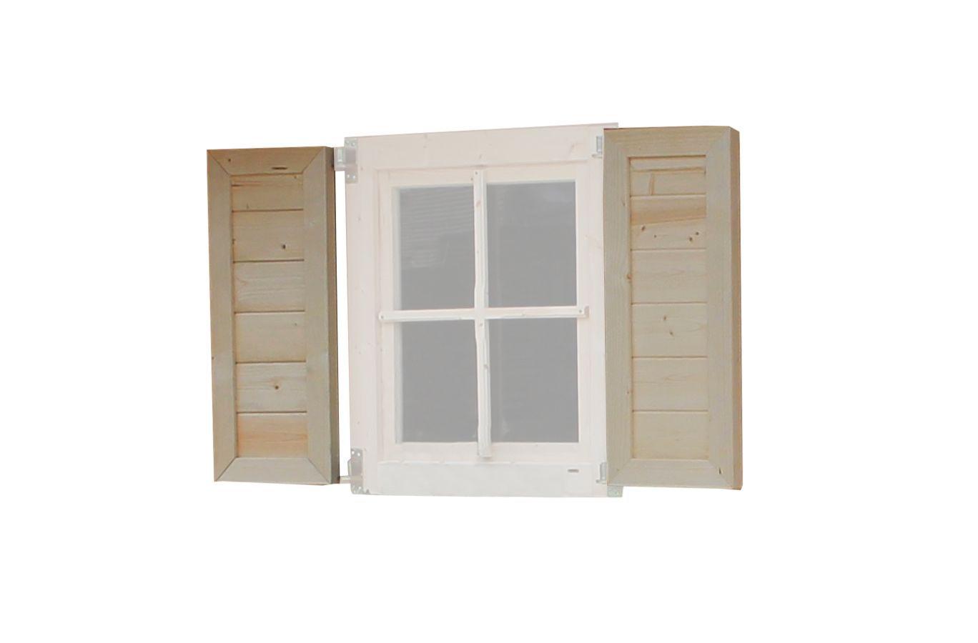Fensterläden aus 44 mm dickem Fichtenholz