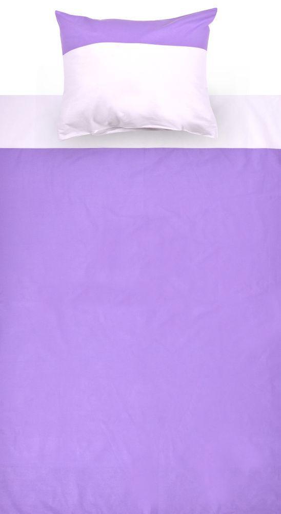 Kinder - Bettwäsche 2-teilig - Farbe:Lila/Weiß