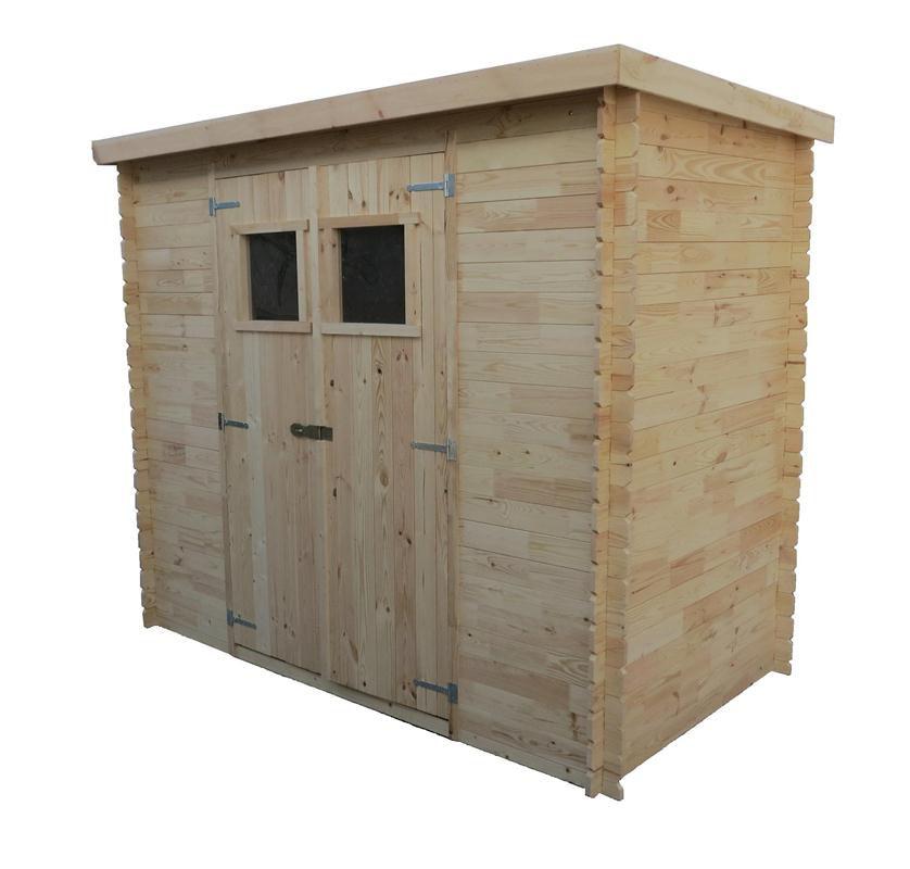 Gartenhütte Holz Pöchlarn - 1,30 x 2,35 Meter aus 19mm Blockbohlen