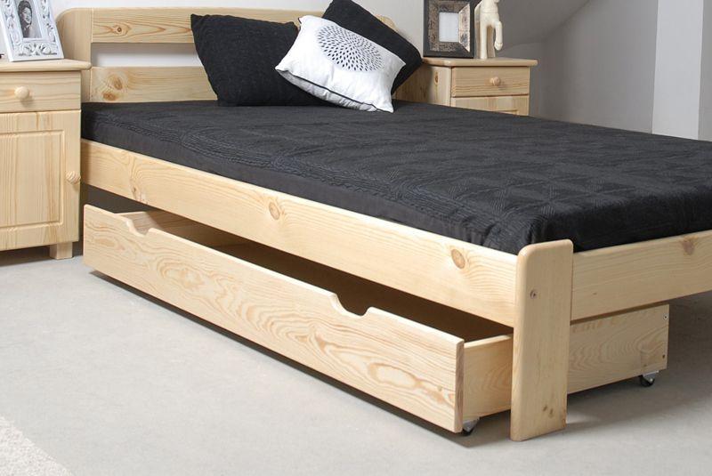 Schublade für Bett - Kiefer Vollholz massiv natur 002- Abmessung 17 x 150 x 57 cm (H x B x T)