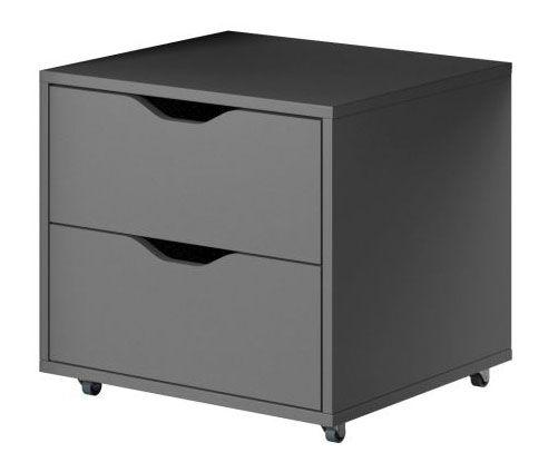 Rollcontainer Sfax 02, Farbe: Grau - 46 x 50 x 40 cm (H x B x T)