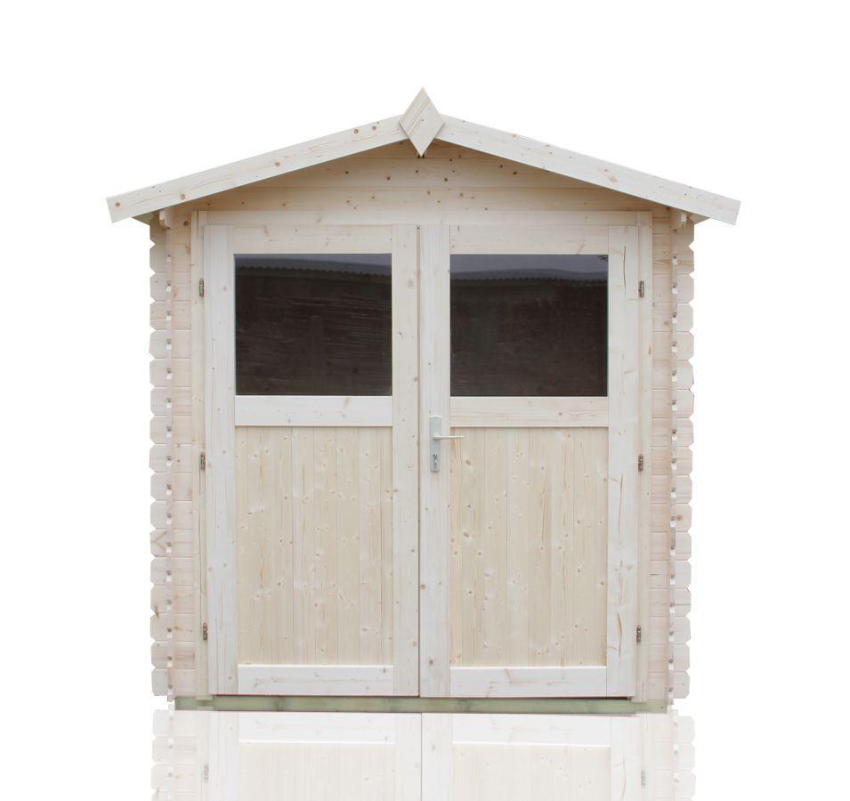 Gartenhäuschen Sommerruhe 5 -  2,90 x 2,90 Meter aus 19 mm Blockbohlen