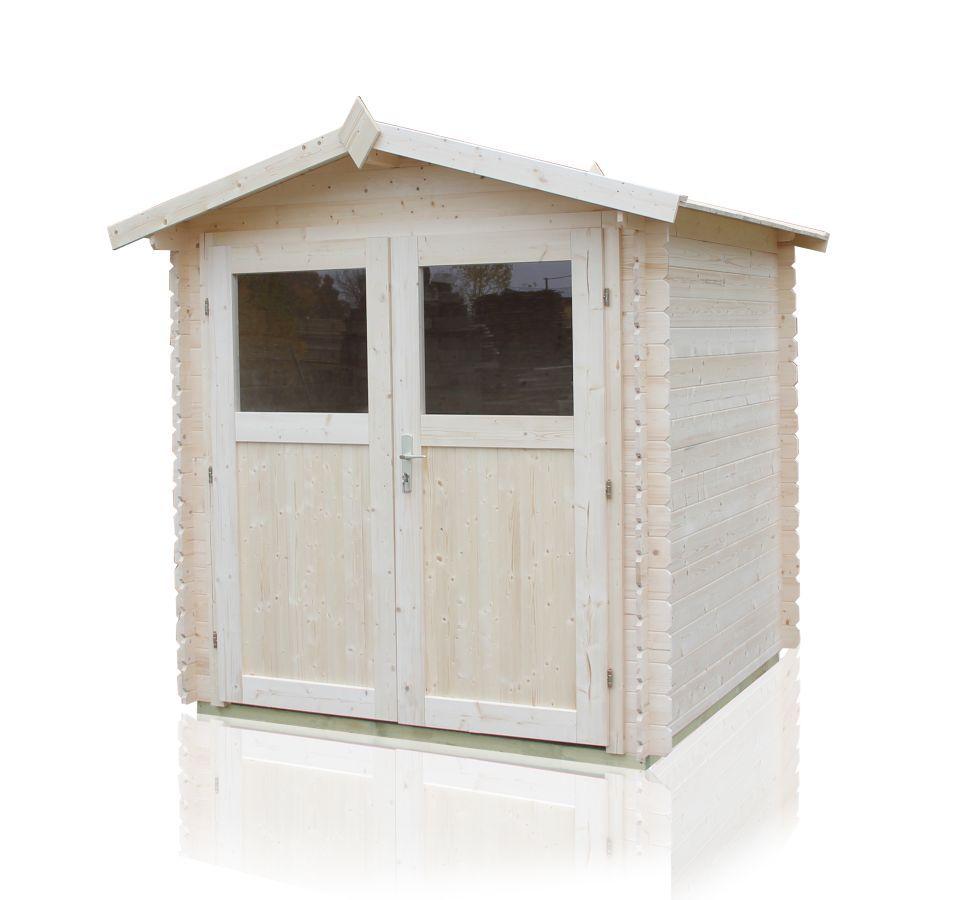Gartenhütte Sommerruhe 4 - 2,40 x 2,40 Meter aus 19 mm Blockbohlen