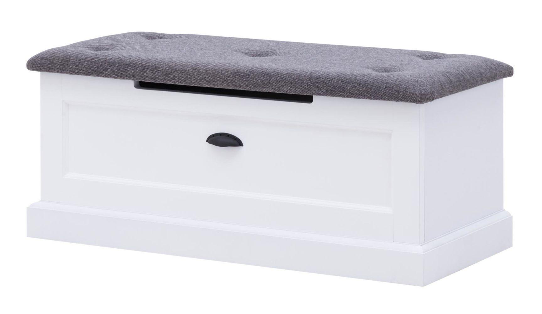 Truhe Rasina 31, Farbe: Weiß - Abmessungen: 40 x 100 x 42 cm (H x B x T)