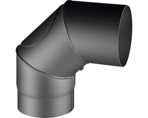 Haas+Sohn Knie geschweißt mit Reinigungsöffnung 90° Ø 150 - Variante: schwarz