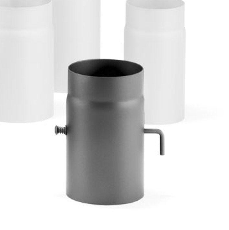 Haas+Sohn Rauchrohr mit Drosselklappe 250 mm Ø 150 - Variante: schwarz