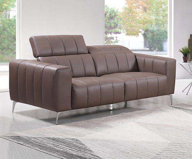 Premium Couch Roma, 3-Sitz Sofa, Farbe: Beige-braun