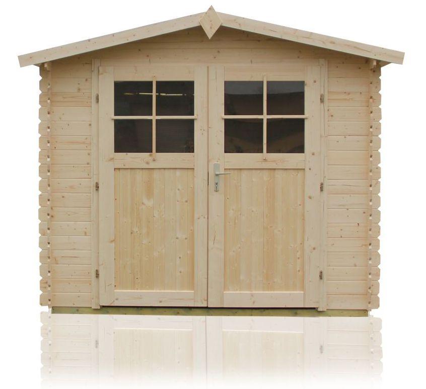 Gartenhütte Sommerruhe 1 - 2,40 x 2,90 Meter aus 28 mm Blockbohlen