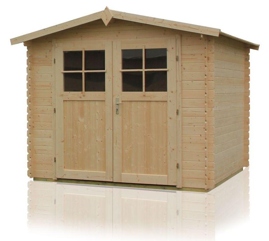Gartenhütte Sommerruhe 3 - 3,10 x 3,10 Meter aus 28 mm Blockbohlen