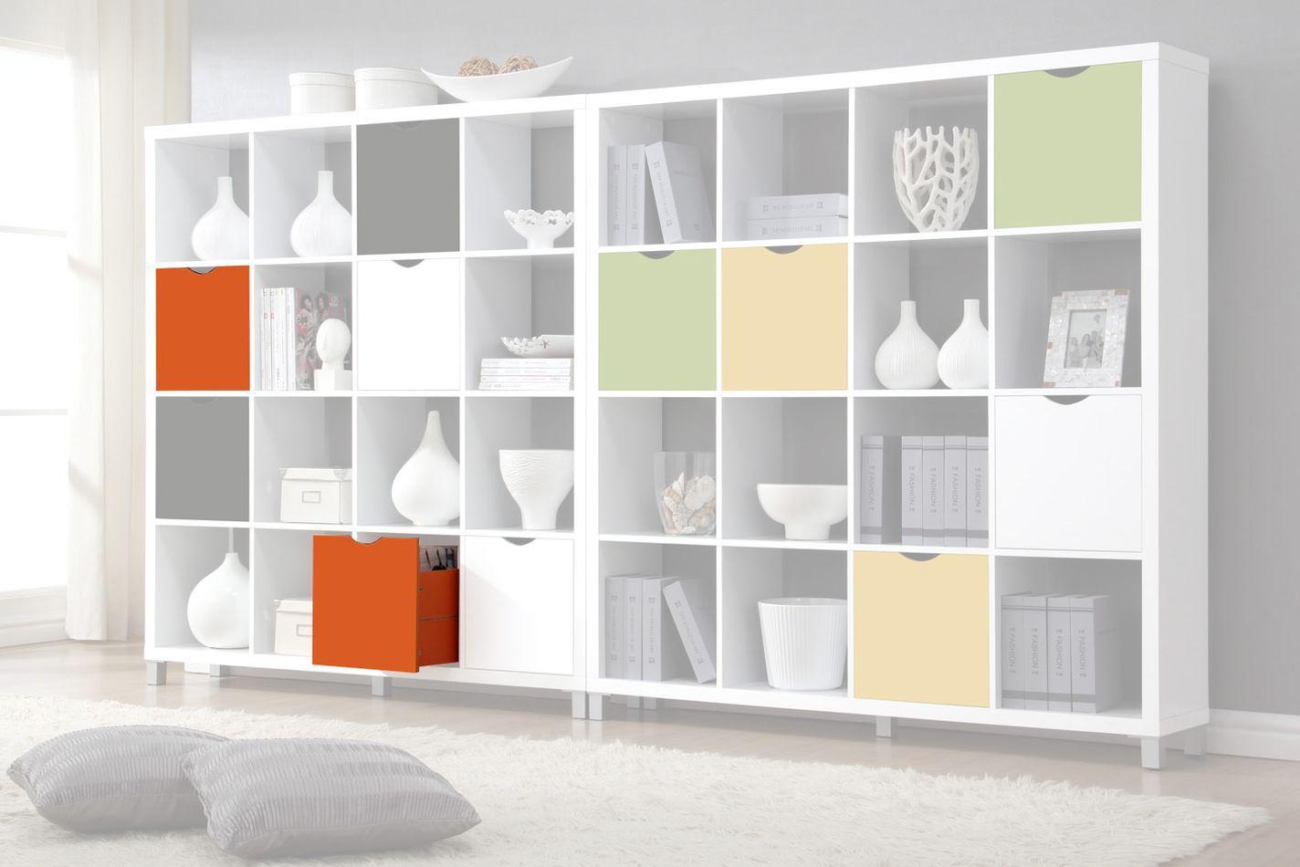 Schublade für Regal Salima, Farbe: Orange - Abmessungen: 33 x 33 x 29 cm (H x B x T)