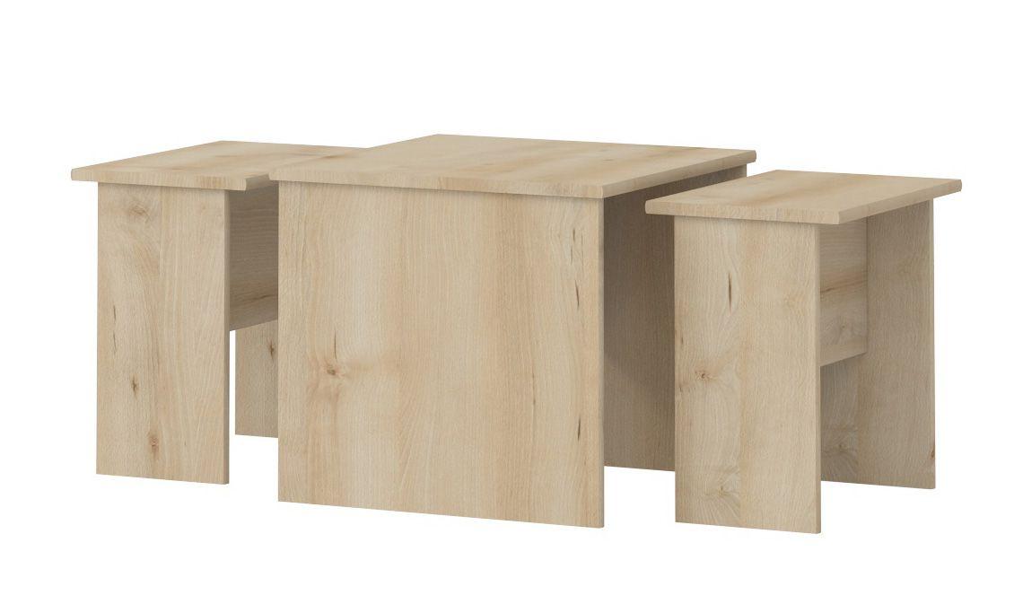 Kinderzimmer - Tisch Benjamin 09, 3-teilig, Farbe: Buche