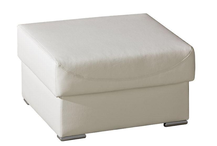 Hocker Flunder 01 in weiß - 86 x 62 cm (B x T)