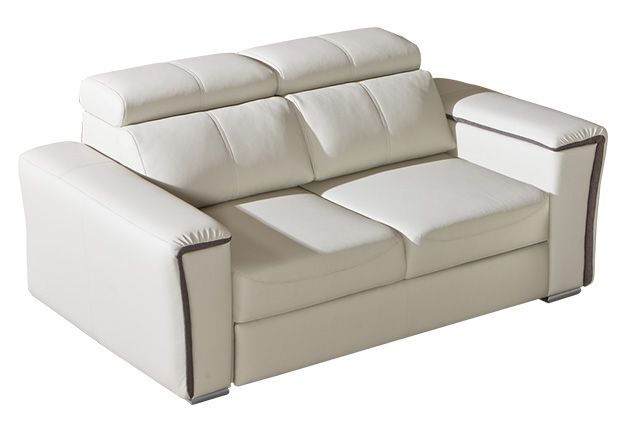3er Sofa Flunder 04 in weiß - 188 x 109 cm (B x T)