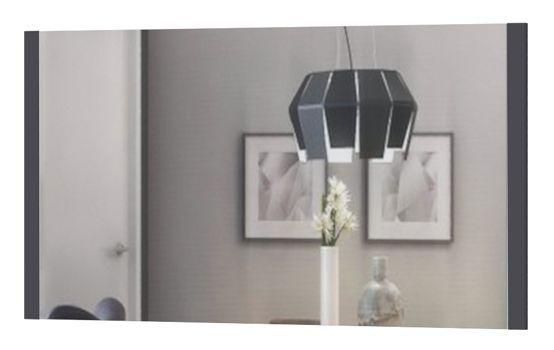Spiegel Vaitele 18, Farbe: Anthrazit Hochglanz - 65 x 123 x 2 cm (H x B x T)