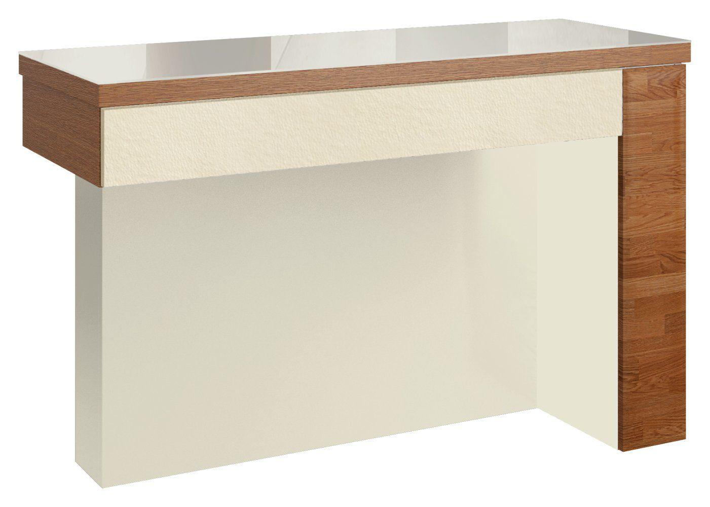 """Schminktisch """"Postira"""" 41, Farbe: Walnuss / Weiß, teilmassiv - Abmessungen: 79 x 119 x 50 cm (H x B x T)"""