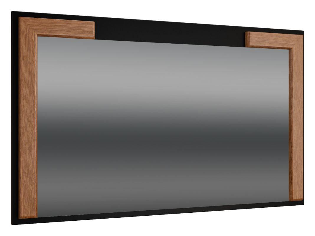 """Spiegel """"Postira"""" 42, Farbe: Walnuss / Schwarz, teilmassiv - Abmessungen: 70 x 119 x 4 cm (H x B x T)"""