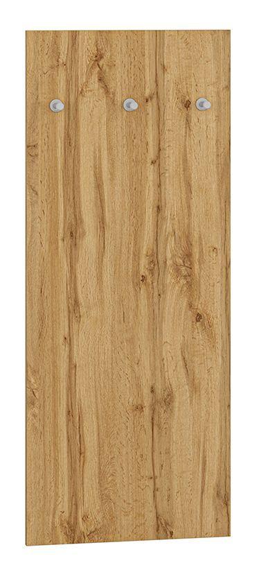 Garderobe Vamdrup 07, Farbe: Eiche - Abmessungen: 110 x 45 x 2 cm (H x B x T)