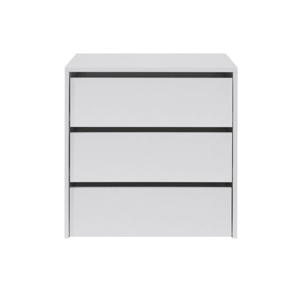 Schubkasteneinsatz für Serie Zwalm, Farbe: Weiß - Abmessungen: 60 x 60 x 45 cm (H x B x T)