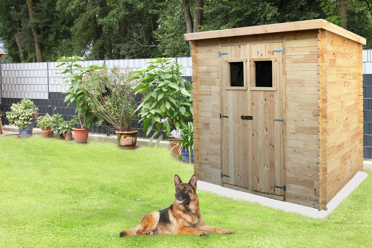 Gartenhäuschen Pöchlarn - 1,30 x 2,35 Meter aus 19mm Blockbohlen