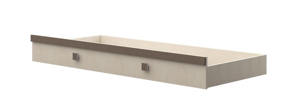 Bettkasten für Kinderbett / Jugendbett Matthias 01, Farbe: Creme / Braun - Liegefläche: 80 x 190 cm (B x L)