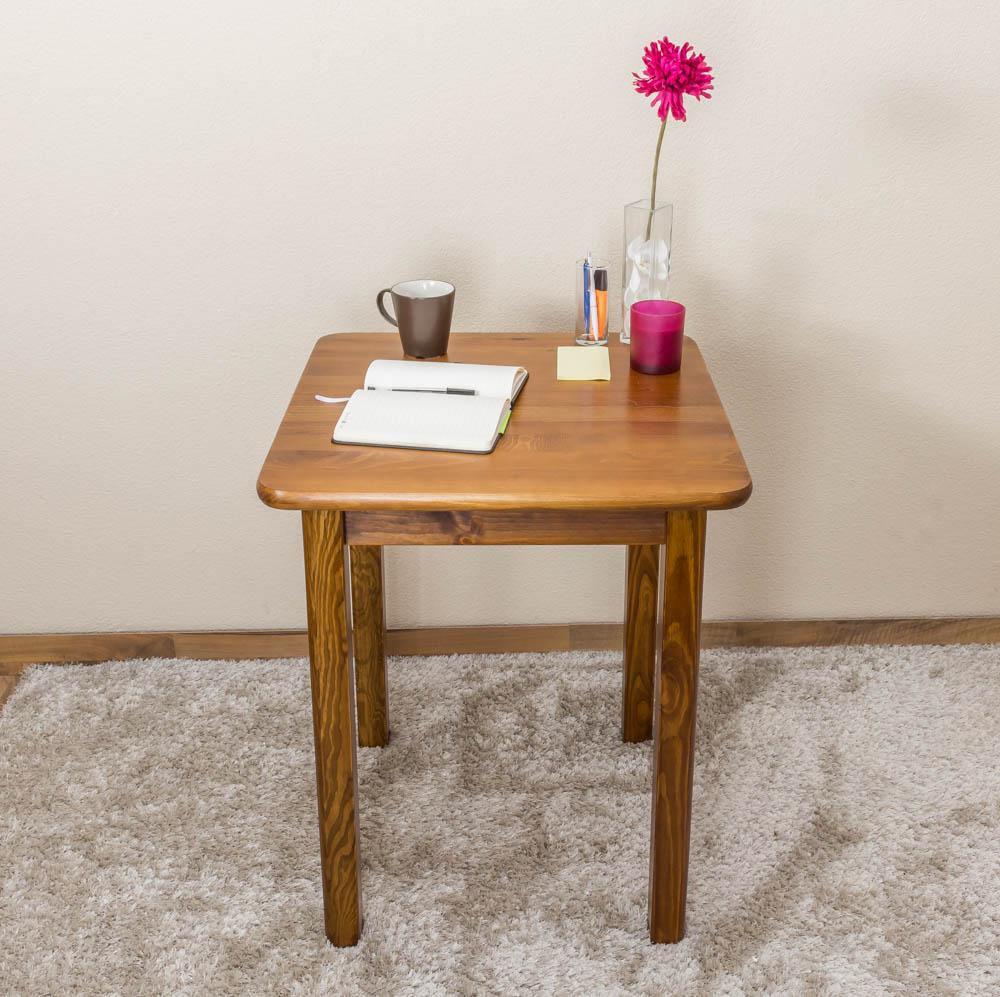 Tisch 9x9 cm Kiefer massiv, Farbe Eiche