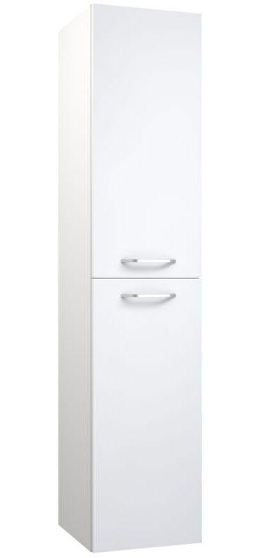 Badezimmer - Hochschrank Barasat 87, Farbe: Weiß glänzend – 160 x 35 x 35 cm (H x B x T)