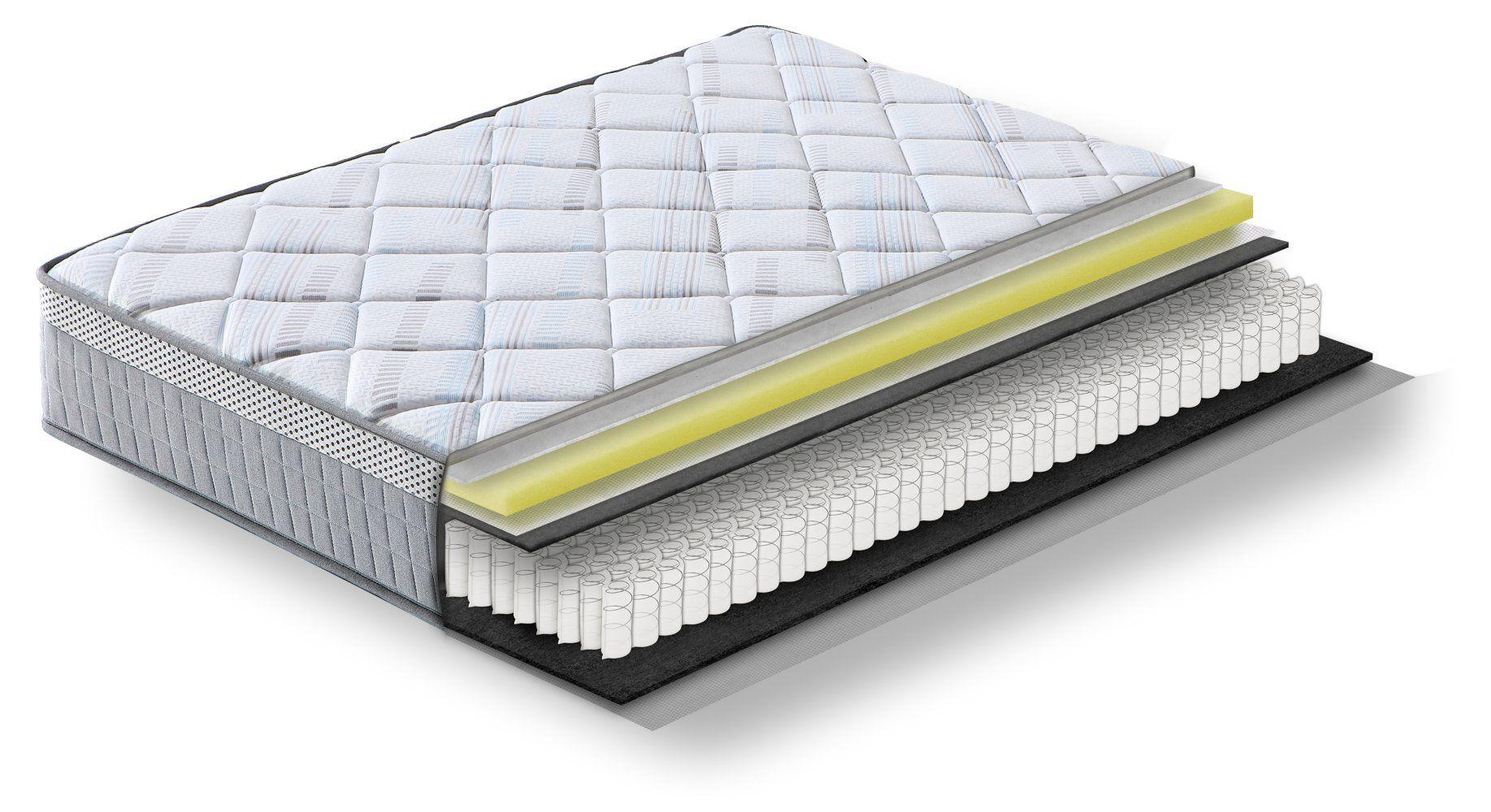 Steiner Premium Matratze Wonder mit Taschenfederkern - Größe: 90 x 200 cm, Härtegrad H3, Höhe: 25 cm