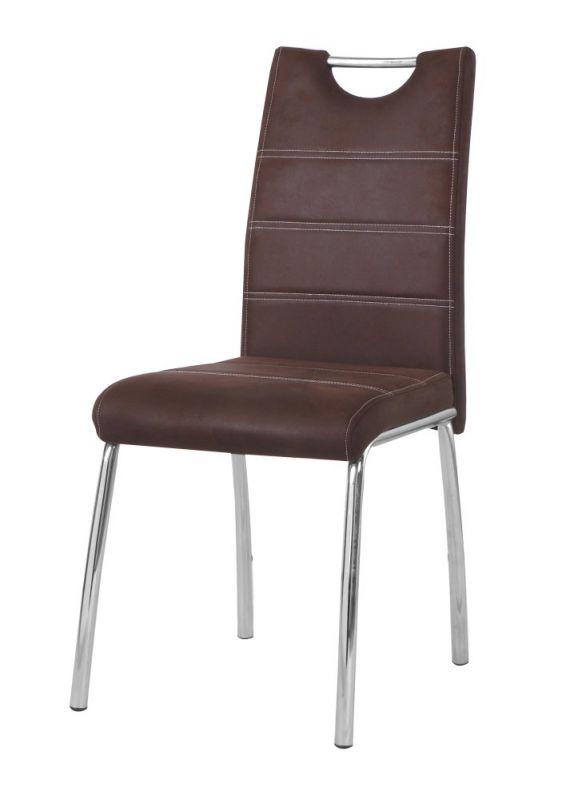 Stuhl Maridi 212, Farbe: Braun - Abmessungen: 95 x 42 x 42 cm (H x B x T)