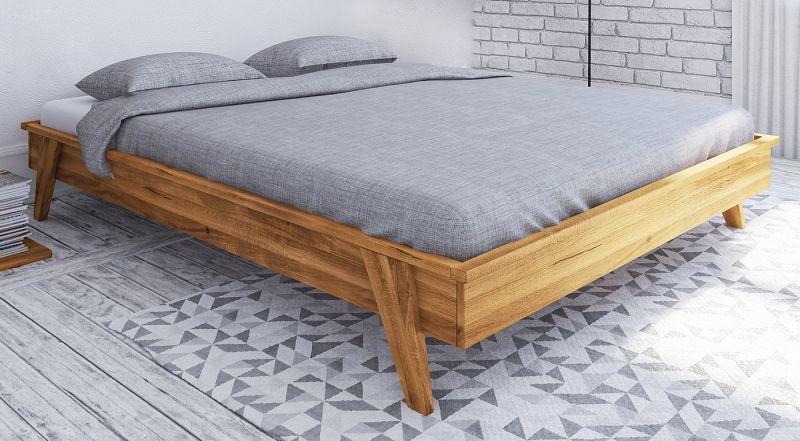 Doppelbett Otago 03 Wildeiche massiv geölt - Liegefläche: 160 x 200 cm (B x L)