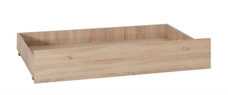 Schublade für Bett Festos, Farbe: Eiche - Abmessungen: 20 x 67 x 120 cm (H x B x L)